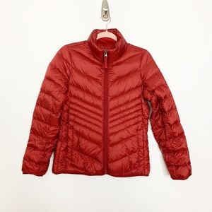 Abercrombie & Fitch Puffer Jacket Red Small #2986
